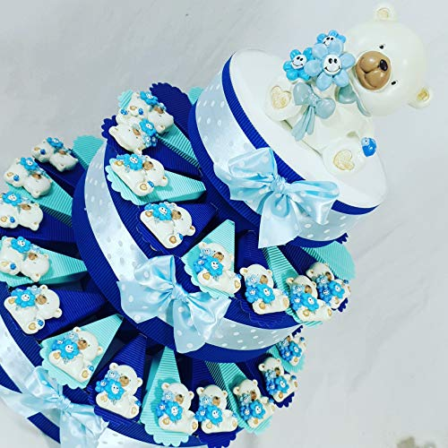Bomboniere orsetti magnete nascita,battesimo bimbo confezionati o fai da te a seconda della scelta … (torta 35 fette 3 piani)