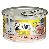 Gourmet Gold Pikante Kuchen Erwachsene Katze Lachs 85G (Packung mit 6)