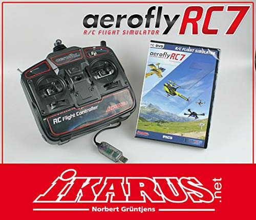 aerofly RC7 Professional DVD mit USB-Commander X2 Amd Laptops