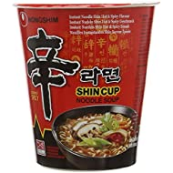 Nong Shim Shin Instant Noodle Cup , Pack of 12