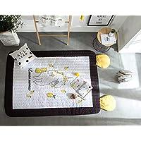 Spielteppich Kinderteppich 200*180*2cm Kinderzimmer Spielmatte Spielteppich Gelb