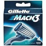 Gillette Mach3 Razor Blades 4s pack with...