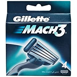 Gillette Mach3 Razor Blades 4s pack with Ayur Product in Combo