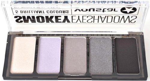 youstar Smokey Eyeshadow Palette - BLACk / 5 Lidschatten, 5 teilig, Trendlook Smokey Eyes