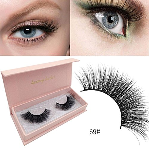 Moonuy Faux Cils Naturels Mink Lashes Volume Lashes Doux Longue Extension de Cils Fake eyelashes 3D Denses Volumineux Cils Réutilisables Magnetic Messy Cross Ultra-minces (E)