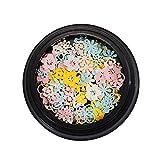 iSpchen Accessori per Unghie Fai da te 100 PCS/Box Festival Glitter Viso Corpo Capelli Unghie Decorativi Nail Art Glitter Sequin Chiodi Lucidi Decorazione Decalcomanie Scintillante Sticker #7