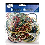 Coloured Elastic Rubber Bands Various Sizes & Colours Office Stationery Home Use