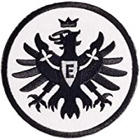 Unbekannt Eintracht Frankfurt Aufnäher, Patch Logo Schwarz 8 cm SGE - Plus Lesezeichen I Love Frankfurt