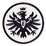 Unbekannt Eintracht Frankfurt Aufnäher, Patch Logo Schwarz 5 cm SGE - Plus Gratis Lesezeichen I Love Frankfurt