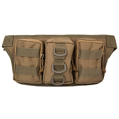 Herren Militär Gürteltasche Reisen Sport Tactical Hüfttasche Outdoor Bauchtasche Braun
