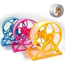 EQLEF® 1 PC rueda del hámster de juguete silencioso deportes corrientes Herramienta de Salud de atención de juguete para Hamster
