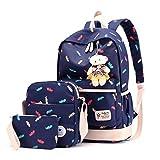 Composite Bagpack Set mit Bären Frauen Rucksäcke blue2 L27cm W14cm H45cm