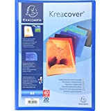 Exacompta Lot de 20 Protèges documents personnalisable PP Kreacover 40 vues Assortis