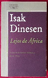 Lejos de Africa par Isak Dinesen