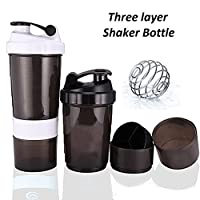 Getko With Device Protein Gym Premiun Shaker 3 in 1 Smart Stayle Blender Mixer Cup Bottle - 500ML