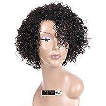 Morichy Peluca de pelo humano para mujer, 100% pelo virgen brasileño sin procesar,