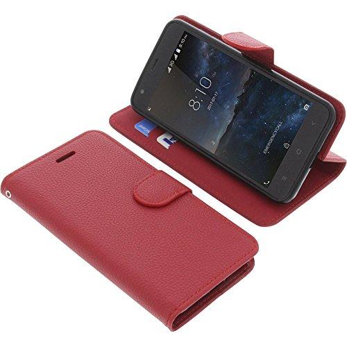 foto-kontor Tasche für Blackview A7 Book Style rot Schutz Hülle Buch