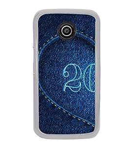 PrintVisa Designer Back Case Cover for Motorola Moto E2 :: Motorola Moto E Dual SIM (2nd Gen) :: Motorola Moto E 2nd Gen 3G XT1506 :: Motorola Moto E 2nd Gen 4G XT1521 (Jeans Heart Love)