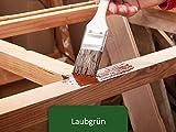5L Holzlack seidenmatt für Parkett, Holzdielen, Holzfussboden, Gartenmöbel | BEKATEQ Holzschutzfarbe Farbe Holzfarben Holzversiegelung auf Wasserbasis für innen und außen hohe Deckkraft, keine Geruchsbelästigung - MADE IN GERMANY Farbe in LAUBGRÜN