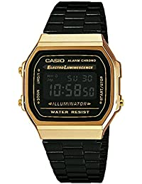 Casio Collection – Reloj Unisex Digital con Correa de Acero Inoxidable – A168WEGB-1BEF