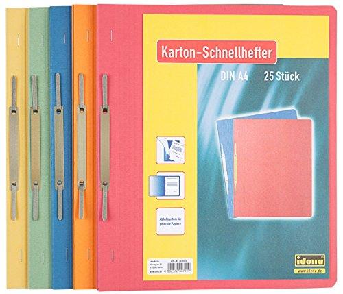 Idena Kartonschnellhefter A4, 25 Stück/Pg Sortiert