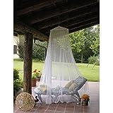 Doppelbett Baldachin Betthimmel Moskitonetz Mückenschutz Insektenschutz Mückennetz in Weiß