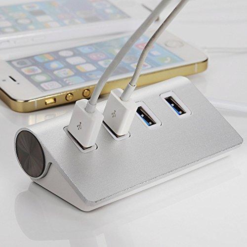 tianxiaw- hochwertigen Faserband USB 3.0 Hub 4 Port-Teiler-Adapter Aluminium Hub für Apple MacBook Air-PC-Laptop