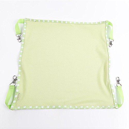 Cat letto sospeso Hammock Kitty Gabbia 2 Superficie Rosa Blu Verde Estate fredda coperta cuscino Outdoor Piccolo Cane , green , s