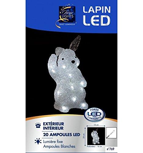 Lapin lumineux LED Blanc froid