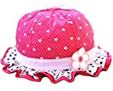 anty-ni Bambino Ragazza Estivo per Neonati Cuore Noud Farfalla a volanti Fiore Sole Cappelli Tappi Rosa Rosso S