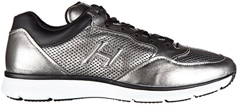 Hogan Herrenschuhe Herren Leder Schuhe Sneakers h254 t2015 h 3D forato Silber