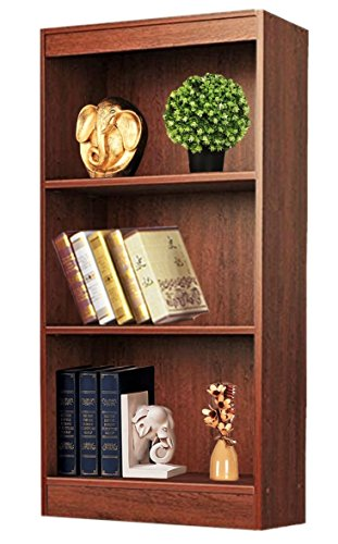 Bluewud Alex Wall Book Shelf / Home Decor Display & Storage Rack Cabinet Unit (Walnut, 3 Shelves, 50