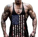 Hippolo Débardeur de sport/gym/fitness pour homme en coton robuste