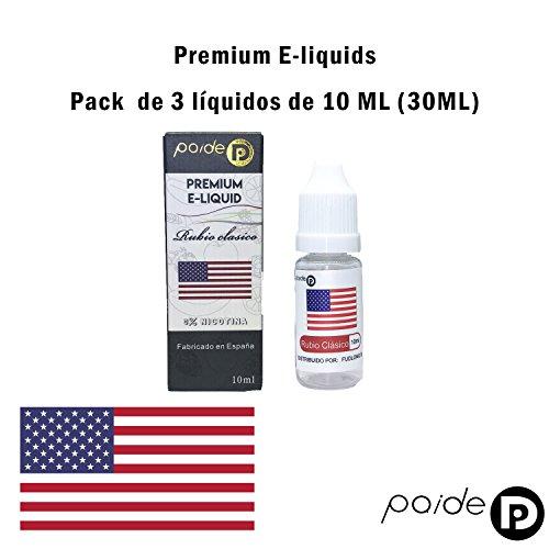 3 x 10ML Paide Premium E-Liquid - Sin nicotina - Líquido