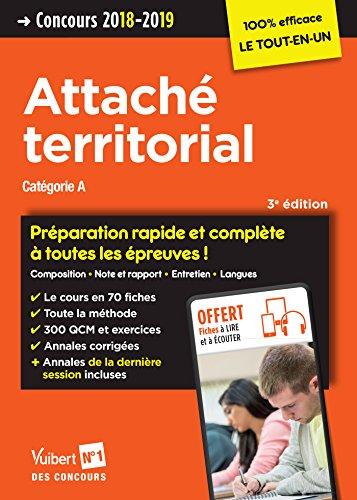 Concours Attach territorial - Catgorie A - Prparation rapide et complte  toutes les preuves ! - Concours 2018