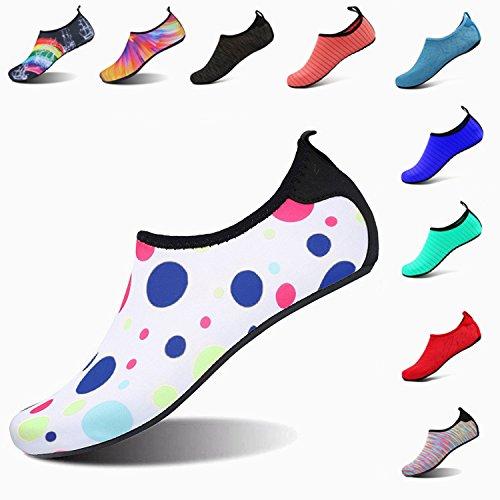 LK LEKUNI Unisexe Plongée Chaussures Respirants Séchage Rapide Semelles Colorées pour Nager Tous Les Sports Plage Et D'eau pour Femmes Hommes Enfants