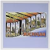 Greetings from Ann Arbor Michigan Scenic Postcard - Greeting Card, 6 x 6