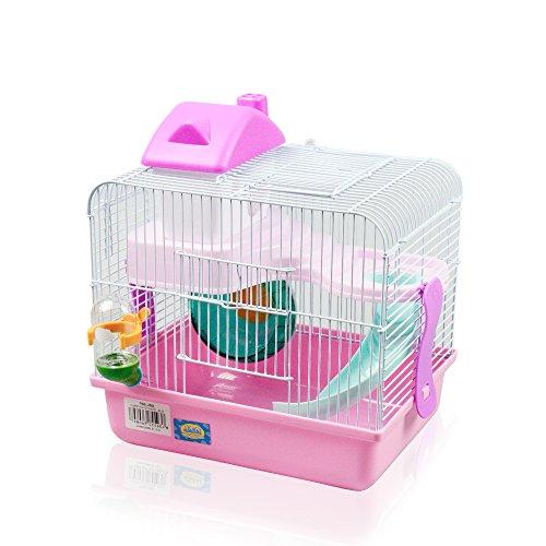 Cage pour hamster de couleur Rose Bleu Couleur aléatoire 27 x 21 x 25 cm