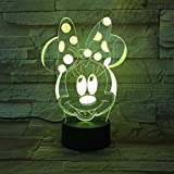 USB 3D Led Pequeña Lámpara de Ilusión de Luz Nocturna Para Niños Bebé Regalo Holograma Luces Decorativas Lámp de Mesa Lámp Luz nocturna de Mesa de Ratón