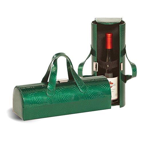 CARLOTTA Clutch Weinflasche Tote-Smaragd Swirl