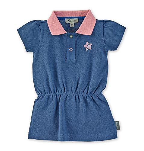 Sterntaler Polo-Kleid für Mädchen mit Raffung, Alter: 12-18 Monate, Größe: 86, Blau