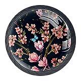 Tiradores de cajón TIZORAX japoneses Magnolia flores y