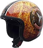 NZI Rolling3 Sun Ushuaïa Offenes Gesicht Motorradhelm, Glanz Triumph, Größe XL
