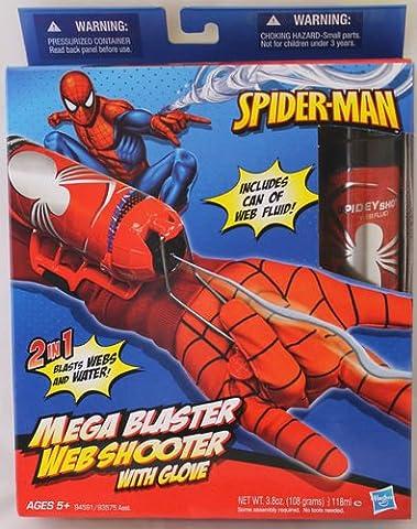 Marvel - 94591 - Spider-Man - Mega Blaster - Web Shooter mit Handschuh - verschiesst Web-Fluid und (Spiderman Web)