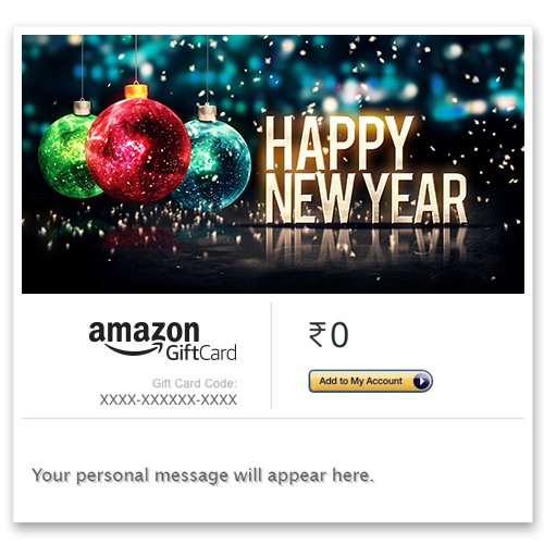 Amazon In New Year Offer Amazon Gift Cards Gift Cards