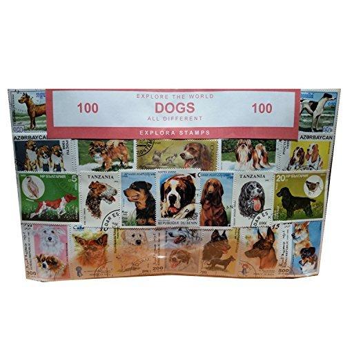 Hunde der Welt Briefmarken Collection / Hound/Tier Souvenir/Speicher/MEMORIA. Sammlerstücke Briefmarken aus der ganzen Welt. Alle verschiedene, 100 klare Briefmarken. Timbre/francobollo/Sello (Einkaufszentrum)