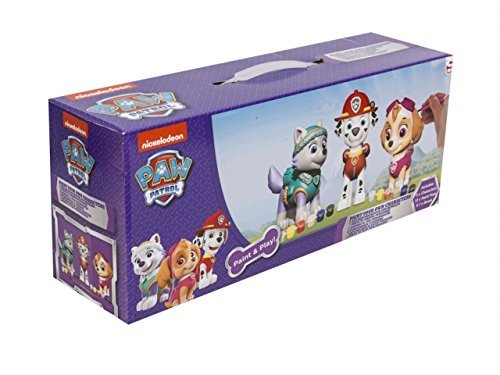 Cife Figure ESCAYOLA Paw Patrol GIRL to Paint Pack of 4, (4330PWP3)