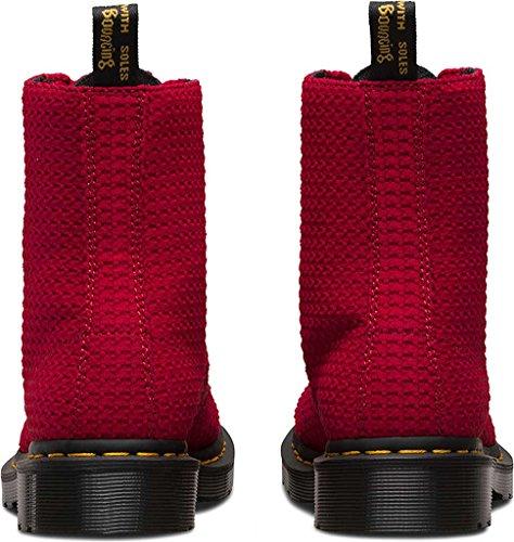 Dr. Martens PASCAL FL Blanc Cascade de Split blanc 8 trous bottes d'hiver 21,611,100 Dark Red