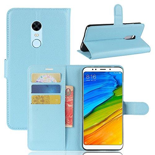 Nadakin Xiaomi Redmi 5 Plus/Redmi Note 5 Calidad Premium Cartera de Cuero con Carcasa de Teléfono Flip Funda con Soporte Magnetico de Cierre para Xiaomi Redmi 5 Plus/Redmi Note 5(Cielo azul)