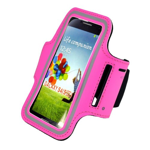 Super Best Slim Fit Hot Pink Courir Brassard couverture de cas pour Samsung Galaxy i9500 S4 SIV